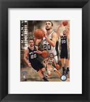 Framed Manu Ginobili 2011 Portrait Plus