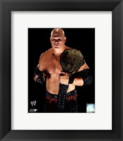 Framed Kane 2010 Posed with Championship Belt