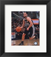 Framed Manu Ginobili 2010-11 Action