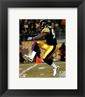 Framed James Harrison 2010 Playoff Action
