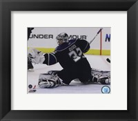 Framed Jonathan Quick 2010-11 Action