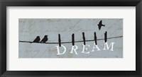 Birds on a Wire - Dream Framed Print