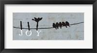 Birds on a Wire - Joy Framed Print