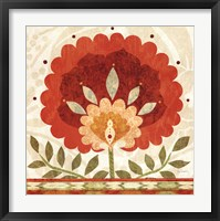 Ikat Bloom II Framed Print