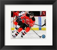 Framed Brian Rolston Passing Hockey Puck