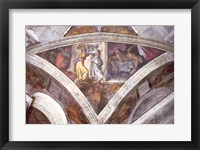 Framed Sistine Chapel Ceiling: Judith Carrying the Head of Holofernes