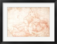 Framed Study of a Male and Female Nude