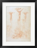 Framed Study of Three Crosses