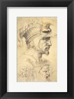 Framed Ideal head of a warrior