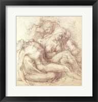 Framed Figures Study for the Lamentation Over the Dead Christ, 1530