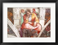 Framed Sistine Chapel Ceiling: The Prophet Jeremiah