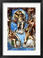 Framed Christ, detail from 'The Last Judgement', in the Sistine Chapel