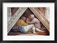 Framed Sistine Chapel Ceiling: The Ancestors of Christ