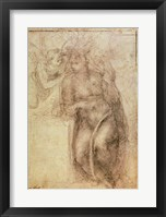 Framed Inv.1895-9-15-516.recto (w.72) Study for the Annunciation
