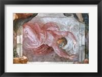 Framed Sistine Chapel Ceiling: God Dividing Light from Darkness