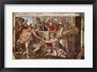 Framed Sistine Chapel Ceiling: Noah After the Flood