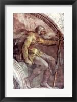 Framed Sistine Chapel Ceiling: One of the Ancestors of God