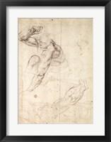 Framed Male figure study