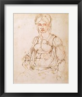 Framed W.41 Sketch of a seated woman