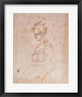Framed W.41 Sketch of a woman