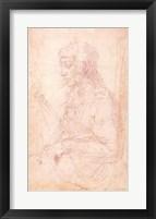 Framed W.40 Sketch of a female figure