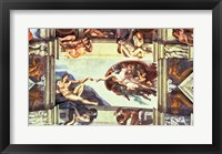 Framed Sistine Chapel Ceiling: Creation of Adam, 1510