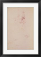 Framed Sketch of a male head and two legs
