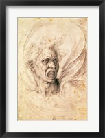Framed Study of a man shouting