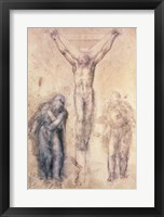Framed Inv.1895-9-15-509 Recto W.81 Study for a Crucifixion