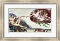 Framed Sistine Chapel Ceiling (1508-12): The Creation of Adam, 1511-12