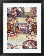 Framed Sistine Chapel Ceiling (1508-12): The Creation of Eve, 1510
