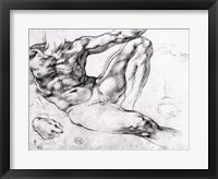 Framed Study for the Creation of Adam
