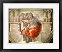 Framed Sistine Chapel Ceiling: Delphic Sibyl