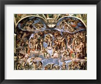 Framed Last Judgement, from the Sistine Chapel, 1538-41