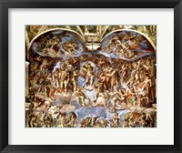 Framed Sistine Chapel: The Last Judgement, 1538-41