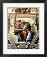 Framed Sistine Chapel Ceiling: Cumaean Sibyl, 1510