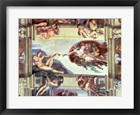 Framed Sistine Chapel Ceiling: Creation of Adam, 1510 B