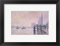 Framed Thames below Westminster, 1871