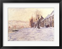 Framed Lavacourt under Snow, c.1878-81