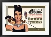 Framed Audrey Hepburn (Breakfast At Tiffany's)