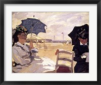 Framed Beach at Trouville, 1870