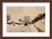 Framed Cart, or Road under Snow at Honfleur, 1867