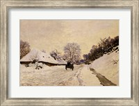 Framed Cart, or Road under Snow at Honfleur, 1867