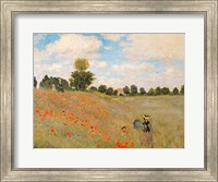 Framed Wild Poppies, near Argenteuil (Les Coquelicots: environs d'Argenteuil), 1873