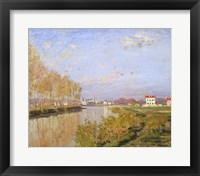 Framed Seine at Argenteuil, 1873