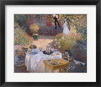 Framed Luncheon: Monet's garden at Argenteuil, c.1873