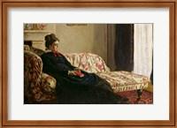 Framed Meditation, or Madame Monet on the Sofa, c.1871
