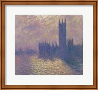 Framed Houses of Parliament, Stormy Sky, 1904