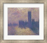 Framed Houses of Parliament, Stormy Sky, 1904
