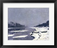 Framed Ice on the Seine at Bougival, c.1864-69